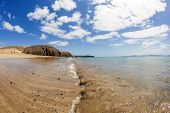 picture of papagayo  - beautiful empty papagayo beaches in late afternoon sunshine - JPG