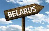 pic of brest  - Belarus wooden sign on a beautiful day - JPG
