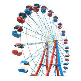 pic of ferris-wheel  - The Ferris wheel isolated on white background - JPG