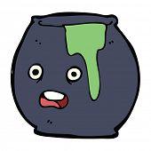 image of cauldron  - cartoon spooky cauldron - JPG