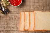 pic of spreader  - soft sliced bread with jam and butter - JPG