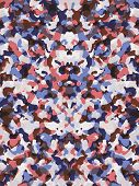 stock photo of camoflage  - A desaturated red and blue camouflage pattern - JPG