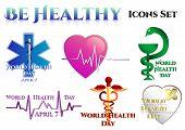 picture of medical staff  - Medical symbols on white - JPG