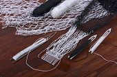 image of fishnet  - Tools for weaving fishnet. Several different shuttles