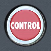 pic of start over  - Control word on red car start or ignition button to illustrate having power - JPG