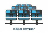 stock photo of mainframe  - data center graphic design  - JPG