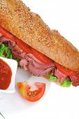 pic of french curves  - french sandwich on white plate - JPG