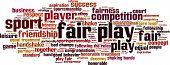 picture of fellowship  - Fair play word cloud concept - JPG
