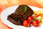 stock photo of oz  - big new york strip steak  - JPG