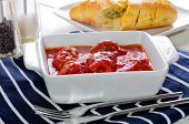 picture of home-made bread  - Freshly Cooked Home Made Meatballs With Bolognese Sauce - JPG