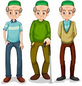 stock photo of muslim man  - Old muslim man in different clothes - JPG