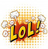 picture of lol  - LOL expression with cloud explosion background - JPG