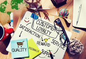foto of loyalty  - Customer Loyalty Satisfaction Support Strategy Concept - JPG