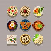 stock photo of korean  - Korean food Vector illustration in modern style for different use - JPG