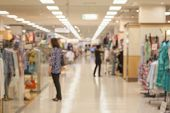 picture of department store  - Abstract background of Department store interior shallow depth of focus - JPG