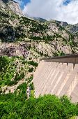 stock photo of dam  - A picture at the dam in Pyrenees mountians - JPG
