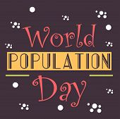 image of population  - illustration of a stylish colorful text for World Population Day - JPG