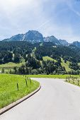stock photo of saanen  - View from the roads in Alps during summer Switzerland - JPG