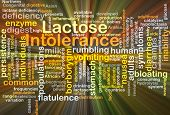 foto of enzyme  - Background concept wordcloud illustration of lactose intolerance glowing light - JPG