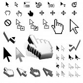 picture of computer-screen  - Largest Set of Vector Cursor Icons - JPG