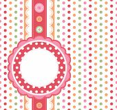 stock photo of greeting card design  - Polka dot design frame - JPG