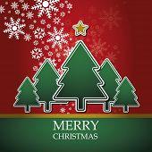 Постер, плакат: Рождественская открытка шаблон вектор