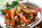 Cooked Shrimps With Bean poster