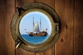picture of galleon  - Close - JPG