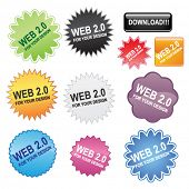 Stickers for web design