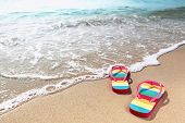 stock photo of summer beach  - Summer vacation concept - JPG