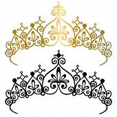 stock photo of tiara  - Princess Tiara Crown Vector Illustration - JPG