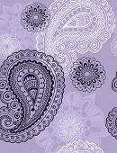 Seamless Repeat Pattern- Hand-Drawn Intricate Henna Paisley Doodle Vector Illustration Wallpaper