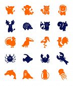 image of dauphin  - color block icons  - JPG