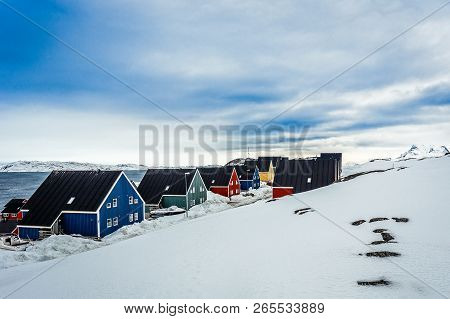 Colorful Inuit Houses Along The