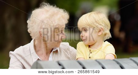 Beautiful Granny And Her Little