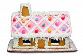 picture of gingerbread house  - Close up photo of a Gingerbread House - JPG