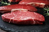 Barbecue Rump Steak, Dry Aged Steak On Rustic Background poster