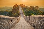The Beautiful Great Wall Of China - Jinshanling Section Near Beijing poster