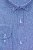 Shirt, Detailed Close-up Collar And Cuff, Top View poster