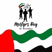 Commemoration Day Of The Uae Martyrs Day. 30 November. Translate From Arabic: Martyr Commemoration  poster
