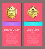 Premium Quality And Brand Guarantee Of Certified Business Activity. Excellence And Golden Label As S poster