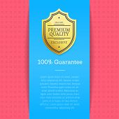 Guarantee Of High Quality Golden Label Assurance. Royal Properties Of Goods. Certified Best Leading  poster