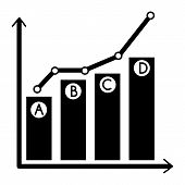 Grow Up Chart Icon. Simple Illustration Of Grow Up Chart Vector Icon For Web Design Isolated On Whit poster