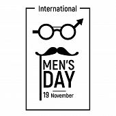 Elegant Mens Day Icon. Simple Illustration Of Elegant Mens Day Vector Icon For Web Design Isolated O poster