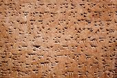 stock photo of babylonia  - Cuneiform writing of the ancient Sumerian or Assyrian civilization in Iraq - JPG