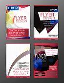 Polygon Brochure Flyer, Magazine Cover Brochure Template Design For Business Education Presentation, poster