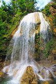 Waterfall in Soroa, a famous cuban natural landmark poster