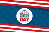 Happy Veterans Day Concept Background. Flat Illustration Of Happy Veterans Day Concept Background Fo poster
