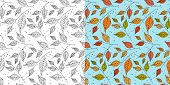 Autumn Leaf Seamless Pattern. Fall Leaves Texture. Seasonal Background With Leaf Pattern. Swatches W poster