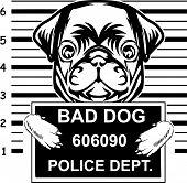 Animal Dog Pug Vex5Td Bad Lines.eps poster